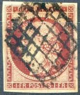 FRANCE - N° 6 (o)...oblitération Grille Sans Fin...belles Marges...papier Homogène - 1849-1850 Cérès