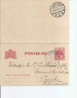 Pays-Bas ( EP De 1915 De Beverwijk  Vers Zutphen à Voir) - Period 1891-1948 (Wilhelmina)