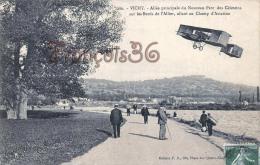 (03) Vichy - Allée Principale Du Nouveau Parc Des Célestins Sur Les Bords De L'Allier Champ D'Aviation Avion - 2 SCANS - Vichy