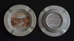 CENDRIER - 1843 - 1943 - TRAIN -  Paris à Orléans - Tirage Limité à 500 - Porcelaine De LIMOGES  - Charles Ahrenfeldt - Asbakken