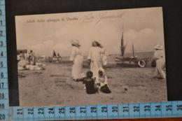 1917  RIMINI  VISERBA  Bellissima  Moda Spiaggia .Viaggiata - Rimini
