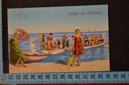 1926  RIMINI  VISERBA  Bellissima  Moda Spiaggia .Viaggiata - Rimini