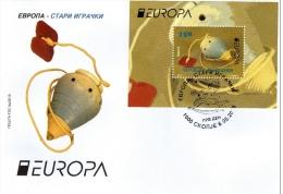 Macedonia / FDC / Europa 2015 / Old Toys / Set And S/S - Macedonië