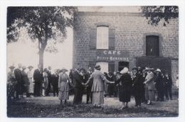 CARTE PHOTO SAINT JULIEN 08 ARDENNES FETE DE LA JEUNESSE 1921 AU CAFE PETIT BORGNIET - Francia