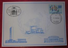 Vereinte Nationen UNO Wien 1980 Karte Lübeck Briefmarke - ONU