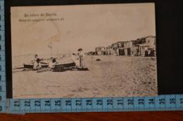 1909   RIMINI  VISERBA  Spiaggia E Marinai  Che Curano Le Reti - Rimini