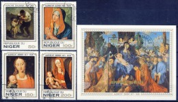 +H549. Niger 1979. Paintings. Daumier & Dürer. Michel 650-53 + Bloc 22. Cancelled(o) - Niger (1960-...)