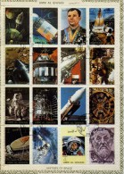 UMM AL QIWAIN -  1973 Feuillet De 16 Timbres : Histoire De La Conquête Spatiale   Feuillet OBLITERE - Space