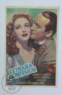 Old Movie Advertising/ Cinema Programme - Summer Storm - Linda Darnell, George Sanders, Anna Lee - Werbetrailer