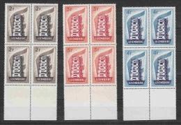 Europa Cept 1956 Luxemburg 3v Bl Of 4 ** Mnh (22028) - 1956