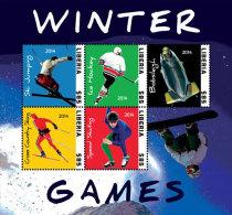LIBERIA  2907 ; IGPC 1408 SH ; MINT N H STAMPS ( SPORT ; WINTER GAMES - Liberia