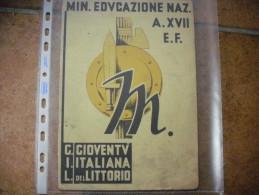 PAGELLA ANNO XVII ERA FASCISTA GIOV.ITALIANA DEL LITTORIO OLEGGIO V.OSPEDALE - Diplomi E Pagelle