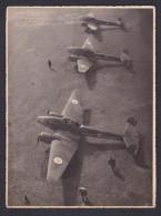 Photo Originale GF - Aviation - Guerre 1939-1945 -  Armée Française Algerie - Belle Vue Aerienne Sur Avion  Avions Potez - Guerre, Militaire