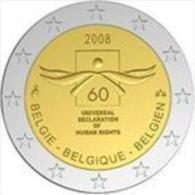 Belgie 2008  2 Euro Commemo   Mensenrechten   UNC Uit De Rol  UNC Du Rouleaux - Belgio