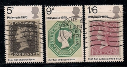 UK 1970 Used Stamp(s) International Stamp Show Nrs. 555-557 - 1952-.... (Elizabeth II)