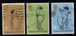 UK 1973 Used Stamp(s) County Cricket Nrs. 621-623 - 1952-.... (Elizabeth II)