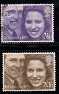 UK 1973 Used Stamp(s) Ann And Mark Philips Nrs. 637-638 - Used Stamps