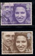UK 1973 Used Stamp(s) Ann And Mark Philips Nrs. 637-638 - 1952-.... (Elizabeth II)
