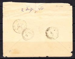 COVERS-3-44 LETTER FROM ODESSA TO PATHMOS. R.O.P.I.T. CONSTANTINOPOL CANCELLATION.