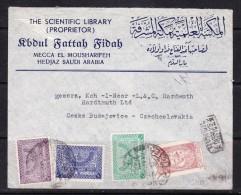 COVERS-3-45 LETTER FROM HEIDJAZ TO CZECHOSLOVAKIA - Arabia Saudita
