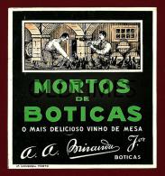 PORTUGAL - BOTICAS - MORTOS DE BOTICAS - VINHO DE MESA - 1940 OLD ADVERTISING LABEL - Alcohols