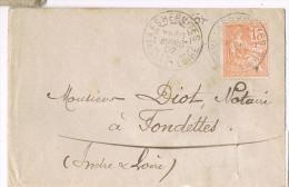 N° 117 Sur Lettre ; CàD Type A2 De Les Hermites ( Indre Et Loire ) Du 10-04-1902 - Postmark Collection (Covers)