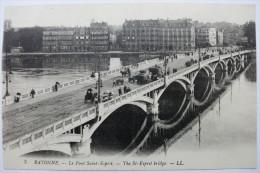 64 - BAYONNE - Le Pont  Saint Esprit  - The Esprit Bridge - Dos VERT Divisé - TBE - Non écrite - - Bayonne