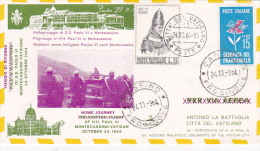 Vatican City 1964 Pope Visit Montecassino, Return Flight - Vatican