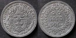 CAMBODGE  50 CENT 1953 INDOCHINE / CAMBODIA / CAMBOYA / KAMBODSCHA  PORT OFFERT - Colonies