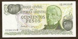 Argentina - 500 Pesos 1977-1982 Uncirculated - Argentina
