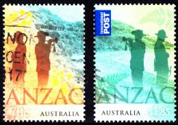Australia 2015 ANZAC: Australia - NZ Joint Issue Set Of Stamps Sheet Used - 2010-... Elizabeth II