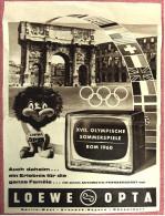 Reklame Werbeanzeige  -  Loewe Opta  -  Automatic-Fernsehgerät  -  Von Ca. 1960 - Television