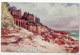 35 - DINARD . POINTE DE LA MALOUINE . E. LESSIEUX ILLUSTRATEUR - Réf. N°9734 - - Dinard