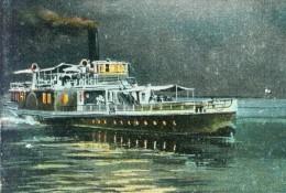 Schiff Dampfer Am Bodensee Abendstimmung Dämmerung 24.6.1905 - Paquebots