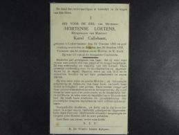 Hortense Loetens épse Callebaut Letterhautem 1861 Aaigem 1938 (7) - Devotion Images