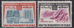 Pakistan MNH 1964, Set Of 2, Nubia /  Nubian Monument Preservation, History, Archeology, - Pakistan