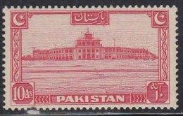 Pakistan MNH 1948,  10as Red, Karachi Airport, Airplane Transport, - Pakistan