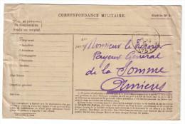 K36 Belle Enveloppe Préimprimée FM Du SP 115 (1916) - Marcofilia (sobres)