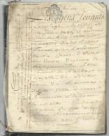 Acte Notarier XVIIIè - 5 Pages Parchemin/velin - Couvent De L´Abbaye Royale De Notre Dame Du Ronceray à Angers.. - Manuscripten