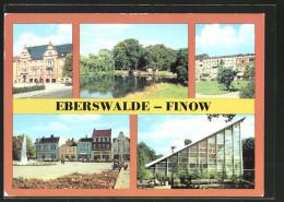 AK Eberswalde-Finow, Rathaus Am Platz Der Freundschaft, Schleuse Am Finowkanal, Wilhelm-Pieck-Strasse - Eberswalde