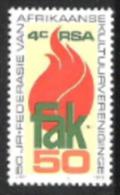 Südafrika South Africa RSA 1979 Kunst Kultur Gesellschaft Kulturvereinigung Flammen Fackel, Mi. 568 ** - Südafrika (1961-...)