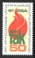 Südafrika South Africa RSA 1979 Kunst Kultur Gesellschaft Kulturvereinigung Flammen Fackel, Mi. 568 ** - Ungebraucht