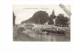21 -Lechâtelet  Le Châtelet - Côte D´Or - Pont Et écluse - Péniche - Animation - Other Municipalities