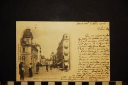 CP, 01, BOURG Avenue D'Alsace Lorraine Edition B Ferrand ABourg Dos Simple Precurseur 1903 Animation Vélo Cycliste - Unclassified