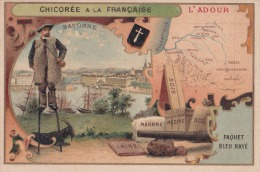 1900 Département :l'Adour ,Bayonne ,bois,marbre,résine,sel (chicorée à La Française) - France