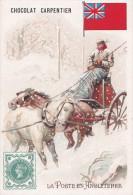 Chromo 1900 Chocolat Carpentier : La Poste En Angleterre (timbre,facteur) - Chocolat