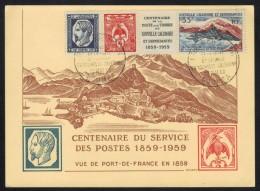 NOUVELLE CALEDONIE / 1960 TIMBRES DU  BLOC # 2 SUR CARTE MAXIMUM FDC (ref 6403E) - New Caledonia