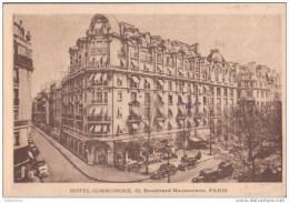 75 PARIS HOTEL COMMODORE BOULEVARD HAUSSMANN AVEC DES VOITURES.CPA BON ETAT - Cafés, Hôtels, Restaurants