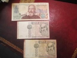 ITALIE 2*1000 LIRES + 1*2000 LIRES - VOIR PHOTOS - [ 2] 1946-… : Républic