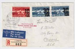 Schweiz, 1937, Flugpost, Automobil -Reko , Gute Frankatur,   #2008 - Zwitserland